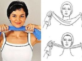 Как избавиться от обвисшего подбородка с помощью полотенца