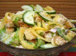 Вечерний легкий салат