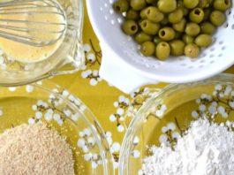 Жареные оливки