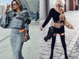 Платье-свитер — стильные новинки осень-зима 2018-2019