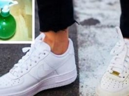 Она смешала 2 ингредиента, которые есть в каждом доме. теперь ее белая обувь как новая