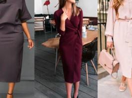 Стильные красивые платья для женщин 40+